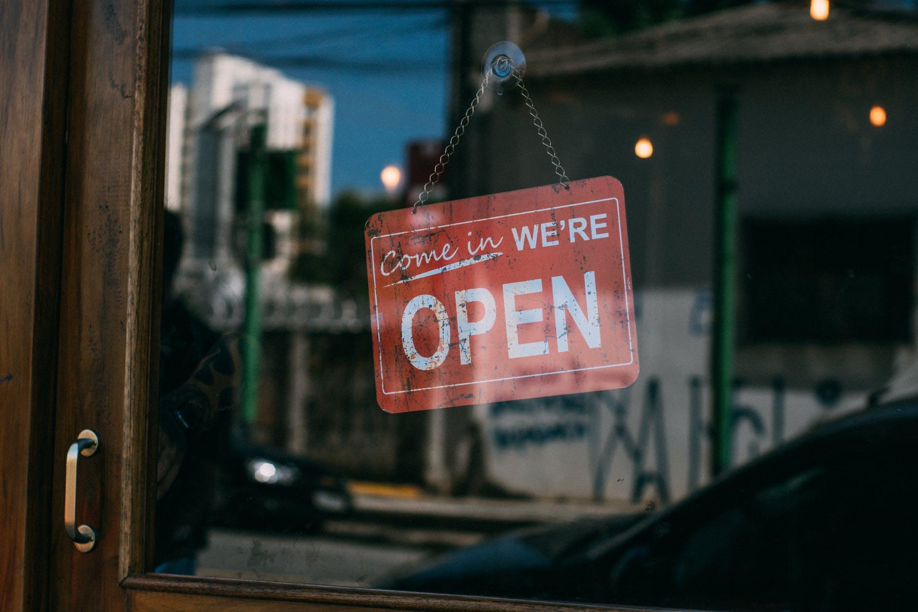 Butikken er åben
